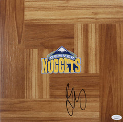 Gary Harris Denver Nuggets Signed Autographed Basketball Floorboard JSA COA