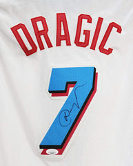Goran Dragic Miami Heat Signed Autographed City Edition White #7 Jersey JSA COA