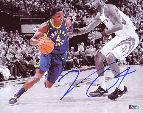 "Victor Oladipo Indiana Pacers Signed Autographed 8"" x 10"" Dribbling Photo Beckett COA"