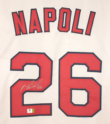Mike Napoli Cleveland Indians Signed Autographed White #26 Jersey Witnessed Global COA