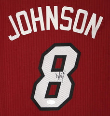 Tyler Johnson Miami Heat Signed Autographed Red #8 Jersey JSA COA