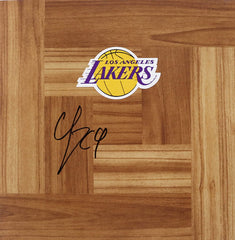 Quinn Cook Los Angeles Lakers Signed Autographed Basketball Floorboard