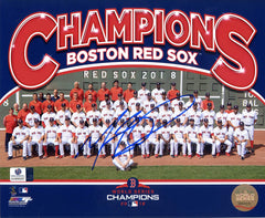 "Mookie Betts Boston Red Sox Signed Autographed 8"" x 10"" World Series Champions Photo Global COA"