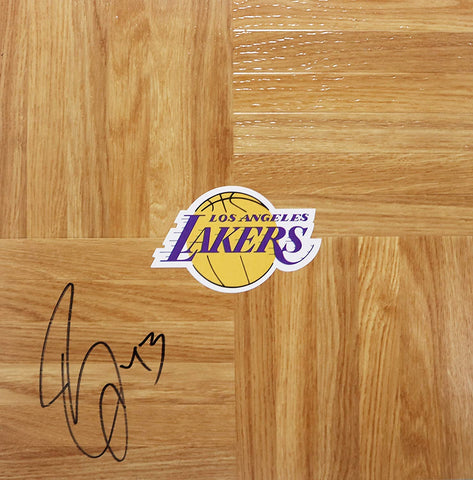 Brian Cook Los Angeles Lakers Signed Autographed Basketball Floorboard
