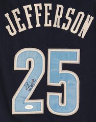 Al Jefferson Utah Jazz Signed Autographed Blue #25 Custom Jersey JSA COA