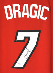 Goran Dragic Miami Heat Signed Autographed Red #7 Jersey JSA COA