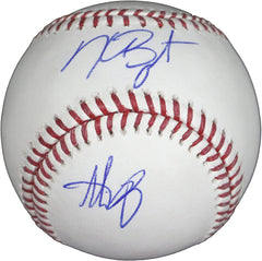 Anthony Rizzo and Kris Bryant Chicago Cubs Signed Autographed Rawlings Official Major League Baseball Global COA with Display Holder