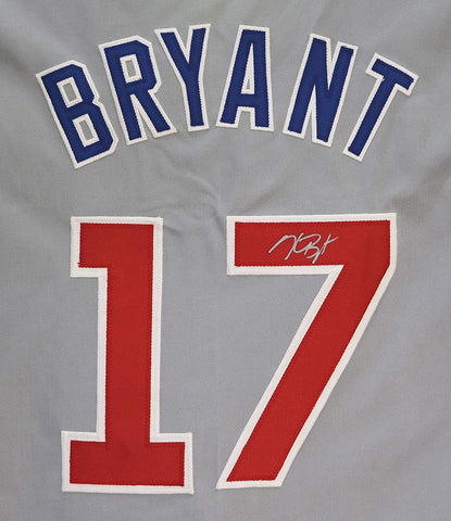 Kris Bryant Chicago Cubs Signed Autographed Custom Gray #17 Jersey LOA Global COA