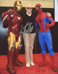 "Stan Lee Signed Autographed 8"" x 10"" Spiderman Ironman Marvel Comics Photo"