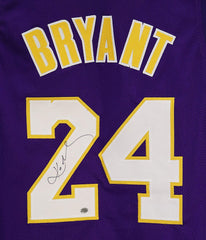 Kobe Bryant Los Angeles Lakers Signed Autographed Purple #24 Custom Jersey PAAS LOA COA