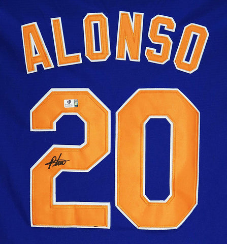 Pete Alonso New York Mets Signed Autographed Blue #20 Jersey Global COA