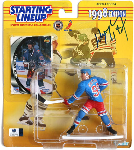 Wayne Gretzky New York Rangers Signed Autographed Starting Lineup 1998 Edition Action Figure Global COA