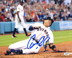 "Carlos Correa Houston Astros Signed Autographed 8"" x 10"" Sliding Photo PP COA"