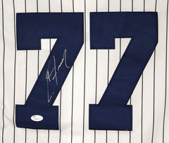 Clint Frazier New York Yankees Signed Autographed White Pinstripe #77 Jersey JSA COA