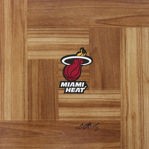 Derrick Jones Jr. Miami Heat Autographed Signed Basketball Floorboard