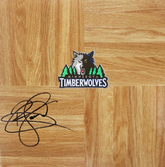 Ryan Gomes Minnesota Timberwolves Signed Autographed Basketball Floorboard