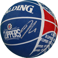 Danilo Gallinari Los Angeles Clippers Signed Autographed Spalding Clippers Logo Mini Basketball