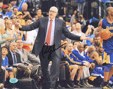 "Phil Jackson Los Angeles Lakers Coach Signed Autographed 8"" x 10"" Photo PP COA"