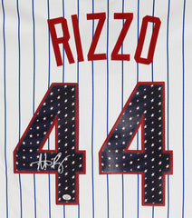 Anthony Rizzo Chicago Cubs Signed Autographed Stars and Stripes 4th of July #44 Jersey PAAS COA