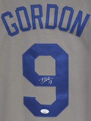 Dee Gordon Los Angeles Dodgers Signed Autographed Gray #9 Jersey JSA COA