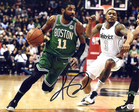 "Kyrie Irving Boston Celtics Signed Autographed 8"" x 10"" Dribbling Photo PAAS COA"