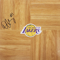 Darius Morris Los Angeles Lakers Signed Autographed Basketball Floorboard