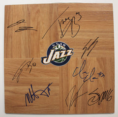Utah Jazz 2014-15 Team Autographed Signed Basketball Floorboard