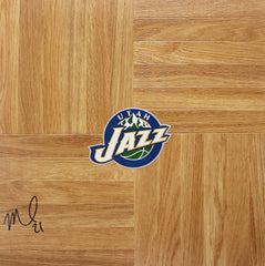 Morris Almond Utah Jazz Signed Autographed Basketball Floorboard