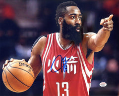 "James Harden Houston Rockets Signed Autographed 8"" x 10"" Directing Traffic Photo PAAS COA"