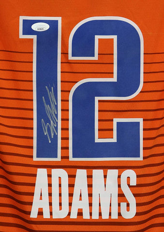 Steven Adams Oklahoma City Thunder Signed Autographed Orange #12 Jersey JSA COA