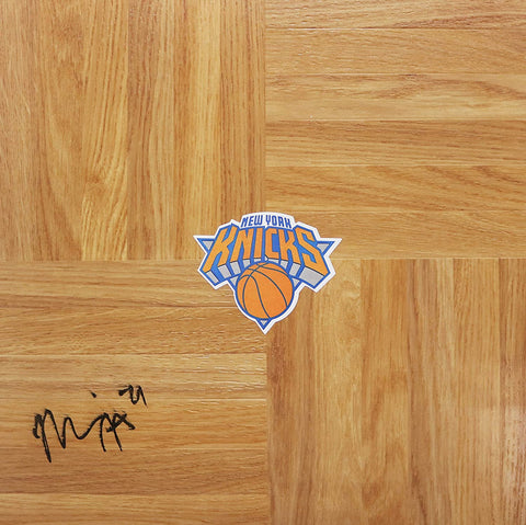 Maurice Harkless New York Knicks Signed Autographed Basketball Floorboard