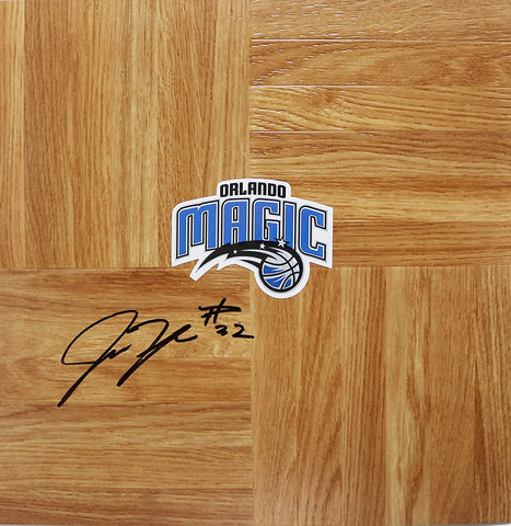 Justin Harper Orlando Magic Signed Autographed Basketball Floorboard