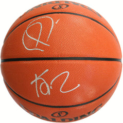 Paul Pierce and Kevin Garnett Boston Celtics Signed Autographed Spalding NBA Game Ball Series Basketball Pinpoint COA