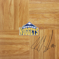 JJ Hickson Denver Nuggets Signed Autographed Basketball Floorboard