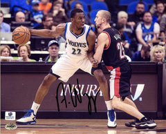 "Andrew Wiggins Minnesota Timberwolves Signed Autographed 8"" x 10"" Dribbling Photo"