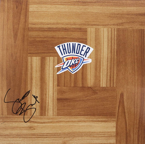 Scott Brooks Oklahoma City Thunder Signed Autographed Basketball Floorboard