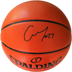 Rudy Gobert Utah Jazz Signed Autographed Spalding NBA Game Ball Series Basketball CAS COA