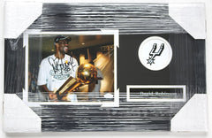 "David Robinson San Antonio Spurs Signed Autographed 22"" x 14"" Framed Photo"