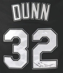 Adam Dunn Chicago White Sox Signed Autographed Black #32 Jersey JSA COA