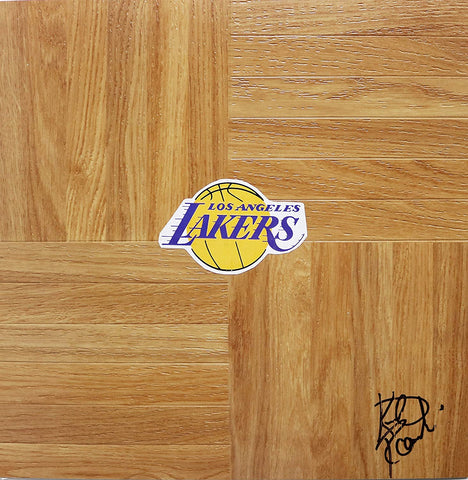 Kurt Rambis Los Angeles Lakers Signed Autographed Basketball Floorboard