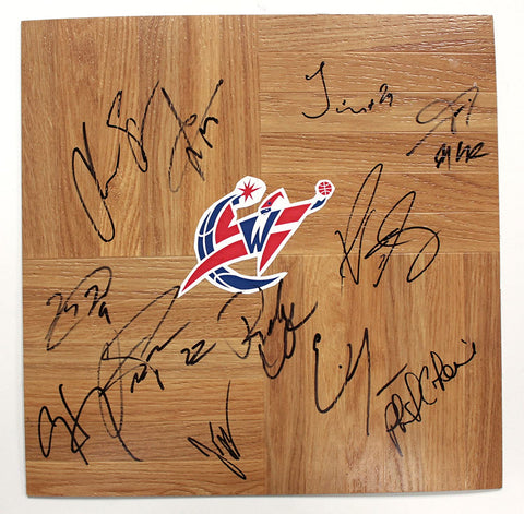 Washington Wizards 2013-14 Team Signed Autographed Basketball Floorboard