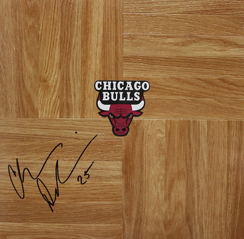 Chris Duhon Chicago Bulls Signed Autographed Basketball Floorboard