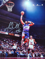"Karl Malone Utah Jazz Signed Autographed 11"" x 14"" Mailman Dunk Photo PAAS COA"