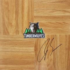 Corey Brewer Minnesota Timberwolves Signed Autographed Basketball Floorboard