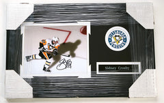 "Sidney Crosby Pittsburgh Penguins Signed Autographed 22"" x 14"" Framed Photo PP COA"
