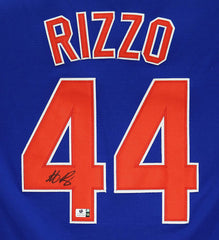 Anthony Rizzo Chicago Cubs Signed Autographed Blue #44 Jersey Global COA
