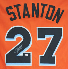 Giancarlo Stanton Miami Marlins Signed Autographed Orange #27 Custom Jersey PAAS COA