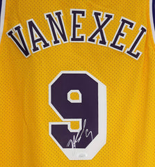 Nick Van Exel Los Angeles Lakers Signed Autographed Yellow #9 Jersey JSA COA