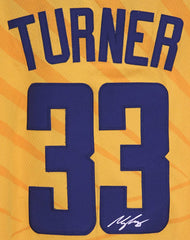 Myles Turner Indiana Pacers Signed Autographed Yellow #33 Jersey