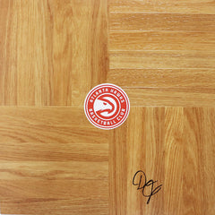 Damian Jones Atlanta Hawks Signed Autographed Basketball Floorboard
